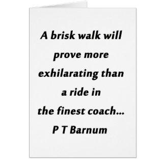 活発な歩行- P T Barnum カード