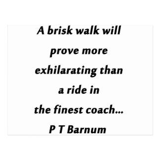 活発な歩行- P T Barnum ポストカード