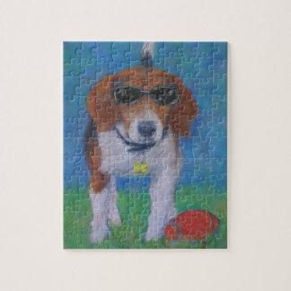 活発な犬のカッコいい犬のパズル ジグソーパズル