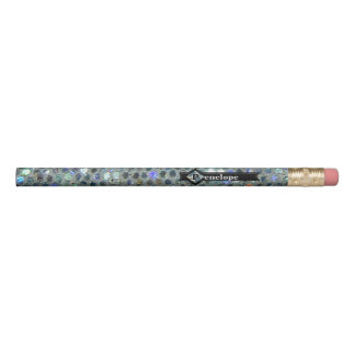 派手なきらめく銀製のきらきら光るなグリッターはあなたの名前を加えます 鉛筆
