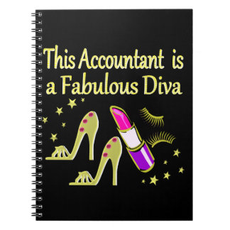 派手な金ゴールドの会計士のデザイン ノートブック