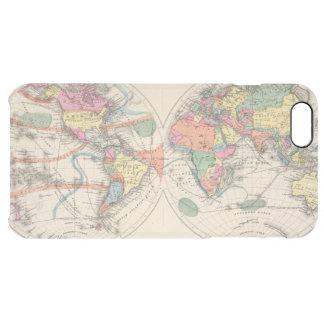 流れおよび貿易風が付いている世界地図の地図 クリア iPhone 6 PLUSケース