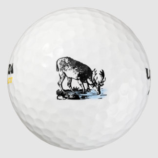 流れのアメリカヘラジカ ゴルフボール