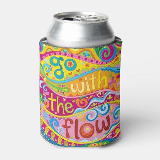 流れのクーラーボックス-カラフルな芸術によって行って下さい 缶クーラー