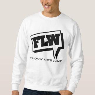 流れのセーターの黒のロゴ スウェットシャツ