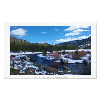 """""""流れの夢で付けられて""""、シエラネバダ山脈の自然 フォトプリント"""