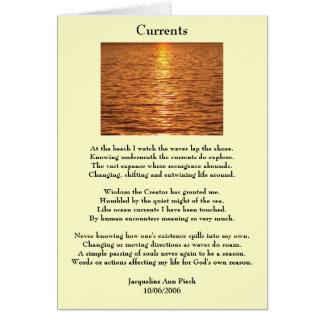 流れの詩歌の挨拶状 カード