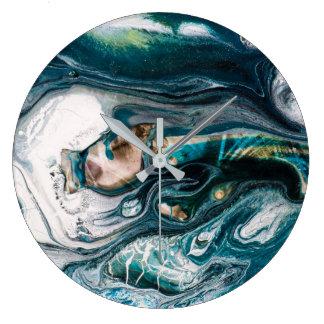 流れる抽象美術の装飾の腕時計 ラージ壁時計