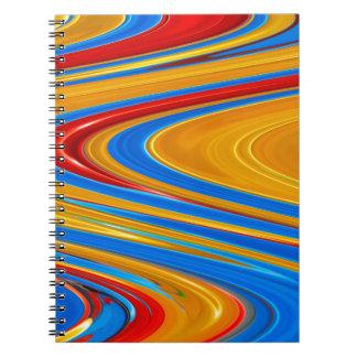 流れる色の抽象芸術 ノートブック