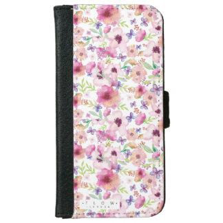 流れ-ロンドン-花のiPhone 6/6sのウォレットケース iPhone 6/6s ウォレットケース
