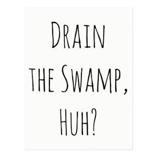 """""""流出させて下さい泥地を、ハァッか""""。 要素からのメッセージ ポストカード"""