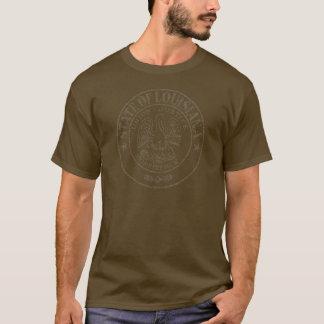 流出のルイジアナの州のシール Tシャツ
