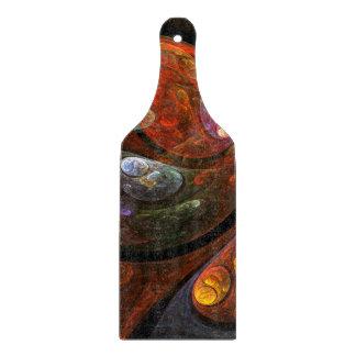 流動つながりの抽象美術のかい カッティングボード