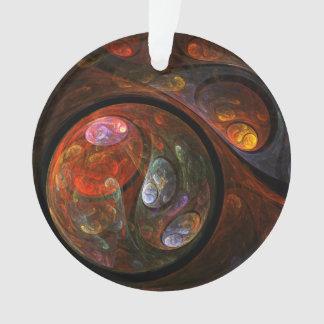 流動つながりの抽象美術のアクリルの円 オーナメント