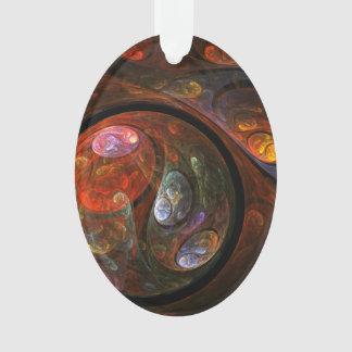 流動つながりの抽象美術のアクリルの楕円形 オーナメント