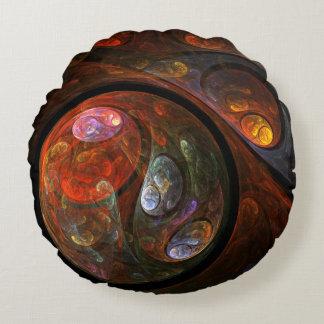 流動つながりの抽象美術の円形の枕 ラウンドクッション