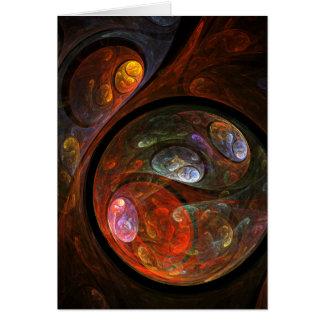 流動つながりの抽象美術の挨拶状 カード