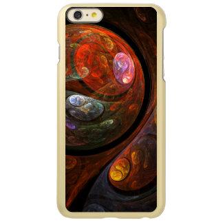 流動つながりの抽象美術 INCIPIO FEATHER SHINE iPhone 6 PLUSケース