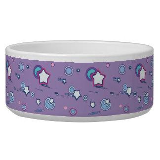 流星および彗星のパステル調の紫色のペットボウル