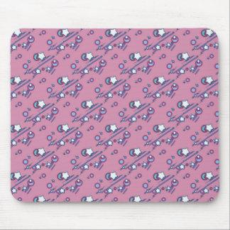 流星および彗星のパステル調ピンクのマウスパッド マウスパッド