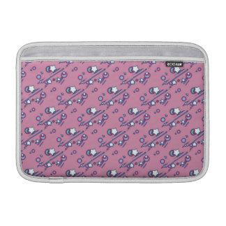 流星および彗星のパステル調ピンクの袖 MacBook スリーブ