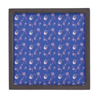 流星および彗星の小さく青いギフト用の箱 ギフトボックス