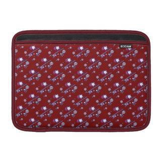 流星および彗星の赤の袖 MacBook スリーブ