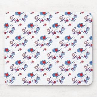 流星および彗星の赤白青のマウスパッド マウスパッド