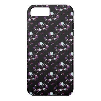 流星および彗星の黒い携帯電話カバー iPhone 8 PLUS/7 PLUSケース