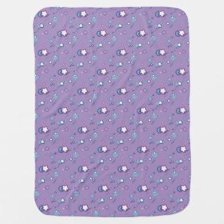 流星の彗星のパステル調の紫色のベビーブランケット ベビー ブランケット