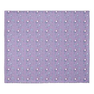 流星の彗星のパステル調の紫色の羽毛布団カバー 掛け布団カバー