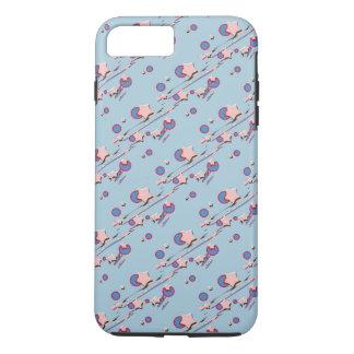 流星及び彗星の淡いブルーの携帯電話の箱 iPhone 8 PLUS/7 PLUSケース