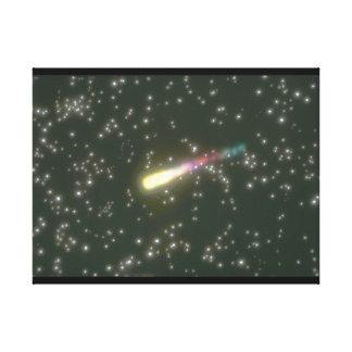 流星。 (流星; 宇宙; 星; galaxy_Space場面 キャンバスプリント