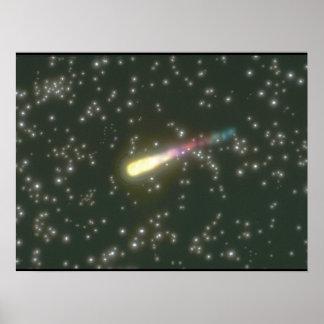流星。 (流星; 宇宙; 星; galaxy_Space場面 ポスター