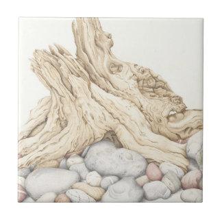 流木および小石のセラミックタイル タイル