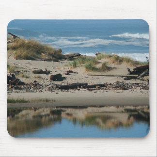流木のビーチのマウスパッド マウスパッド