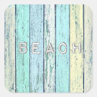 流木のビーチ スクエアシール
