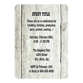 流木の背景の招待状 カード