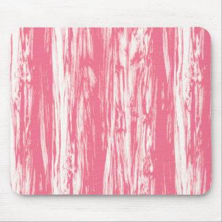 流木パターン-珊瑚のピンクおよび白 マウスパッド