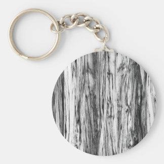 流木パターン-黒、白および灰色 キーホルダー