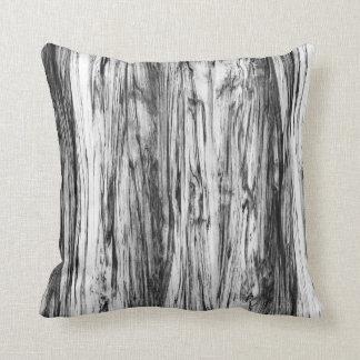 流木パターン-黒、白および灰色 クッション