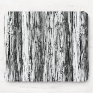 流木パターン-黒、白および灰色 マウスパッド