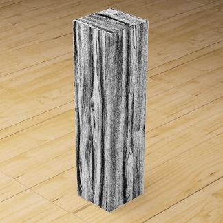 流木パターン-黒、白および灰色 ワインギフトボックス