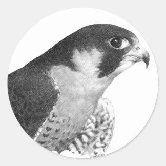 流浪性の《鳥》ハヤブサ鉛筆 ラウンドシール