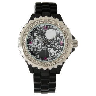 流行に熱く、ピンク 腕時計