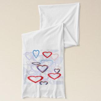 流行のハートのデザインのスカーフ スカーフ