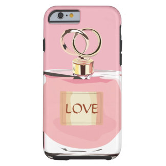 流行の美しいのピンクのガーリーな香水瓶の一見 ケース