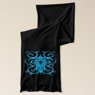 流行の青いハート スカーフ