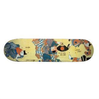 流行猫の狂言づくし、猫、Kuniyoshiの浮世絵の国芳俳優 スケートボード