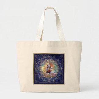 浄化Shiva Mahamrityunjaya -カルマの ラージトートバッグ